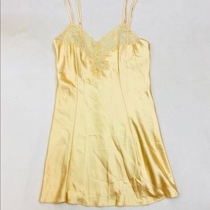 Victoria's Secret golden yellow satin slip dress